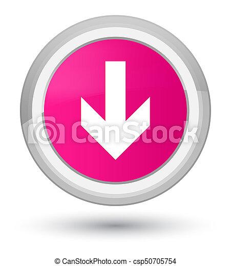 Download arrow icon prime pink round button - csp50705754