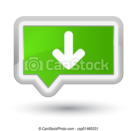 Download arrow icon prime soft green banner button - csp51465331