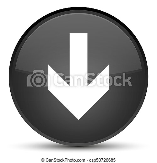 Download arrow icon special black round button - csp50726685