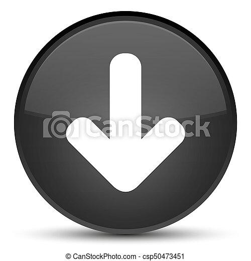 Download arrow icon special black round button - csp50473451