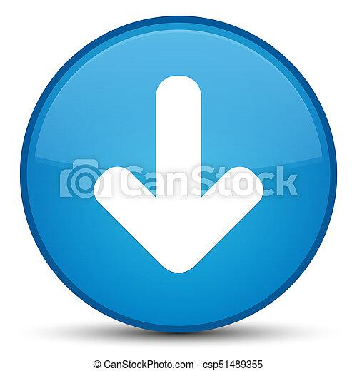 Download arrow icon special cyan blue round button - csp51489355