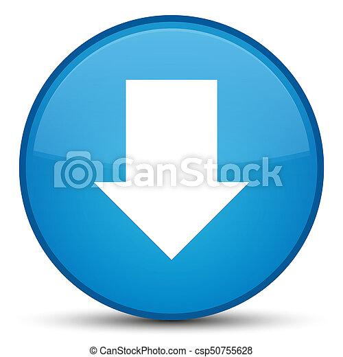 Download arrow icon special cyan blue round button - csp50755628