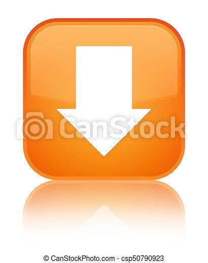 Download arrow icon special orange square button - csp50790923