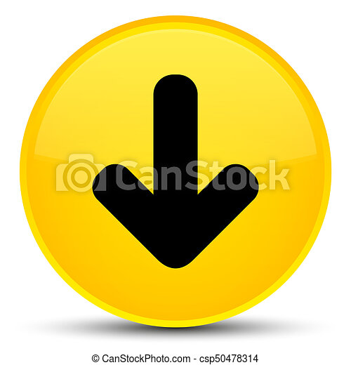 Download arrow icon special yellow round button - csp50478314
