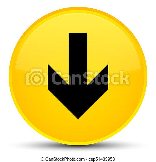 Download arrow icon special yellow round button - csp51433953
