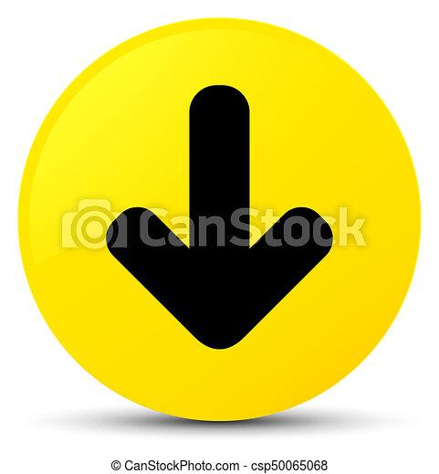 Download arrow icon yellow round button - csp50065068