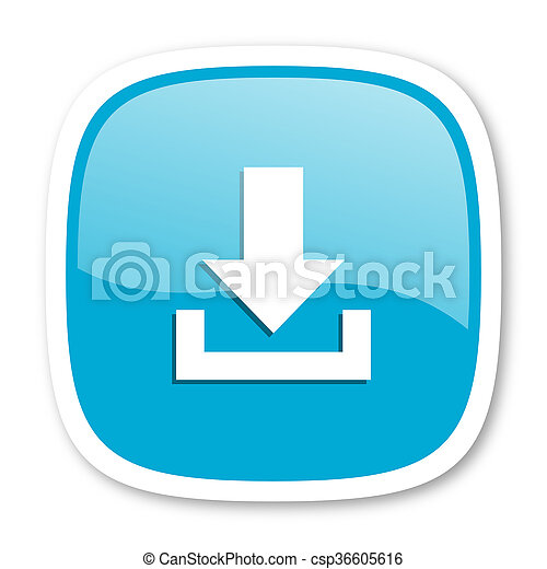 download blue glossy web icon - csp36605616