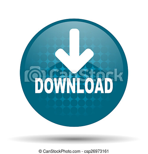 download blue glossy web icon - csp26973161