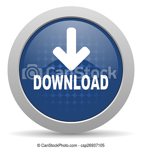 download blue glossy web icon - csp26937105