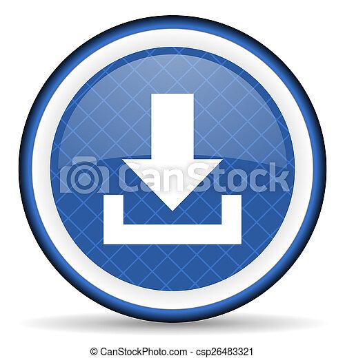 download blue icon - csp26483321