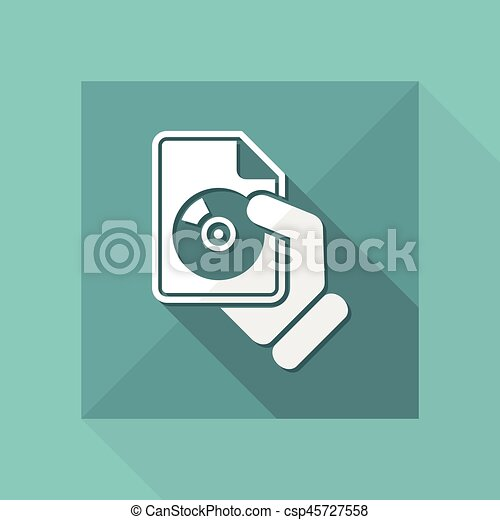 Download button icon - csp45727558