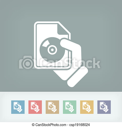 Download button icon - csp19168024
