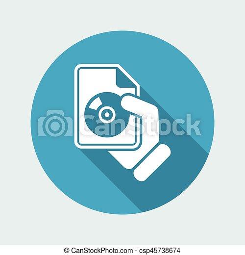 Download button icon - csp45738674