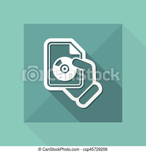 Download button icon - csp45729206