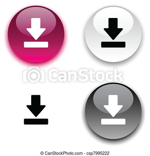 Download button. - csp7995222