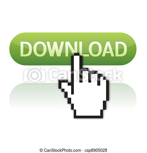 Download button with cursor hand - csp8905028