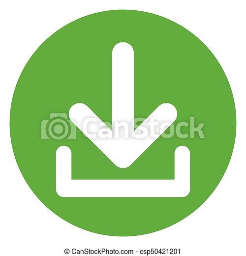 download circle green icon - csp50421201