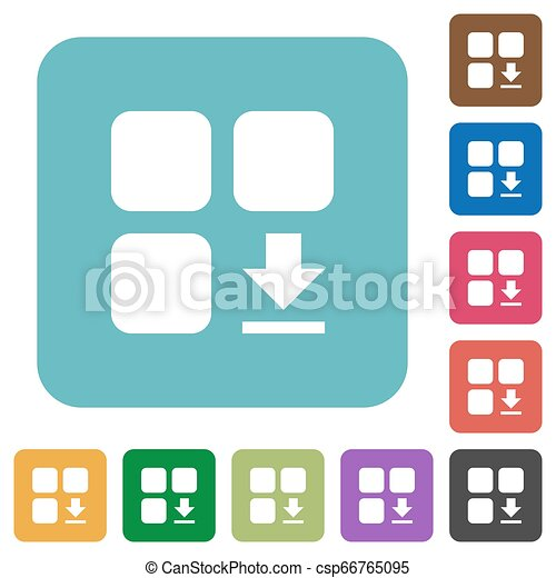 Download component rounded square flat icons - csp66765095