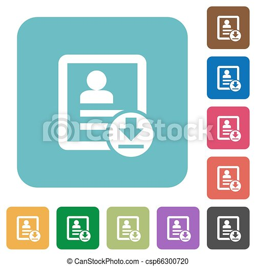 Download contact rounded square flat icons - csp66300720