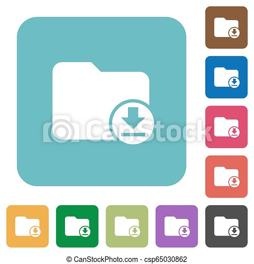 Download directory rounded square flat icons - csp65030862