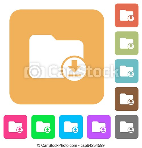 Download directory rounded square flat icons - csp64254599