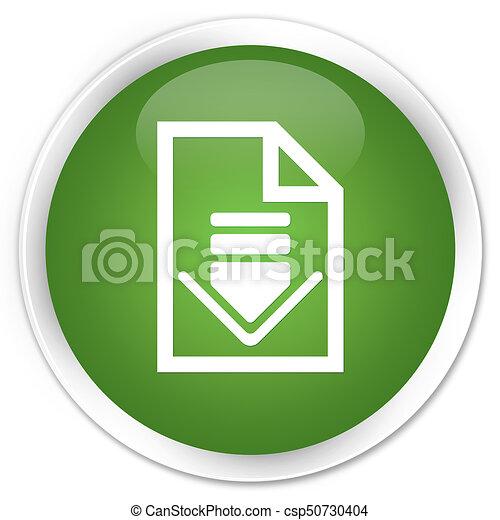 Download document icon premium soft green round button - csp50730404