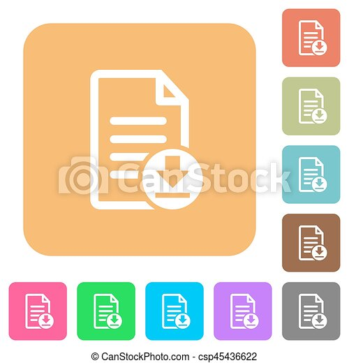 Download document rounded square flat icons - csp45436622