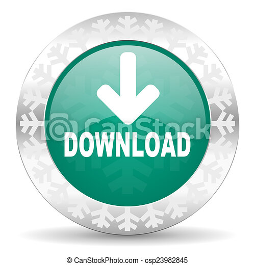 download green icon, christmas button - csp23982845