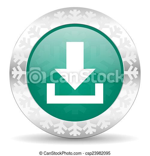 download green icon, christmas button - csp23982095