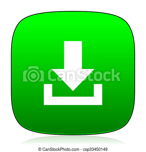 download green icon for web and mobile app - csp33450149