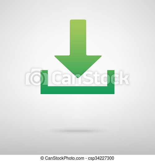 Download green icon - csp34227300