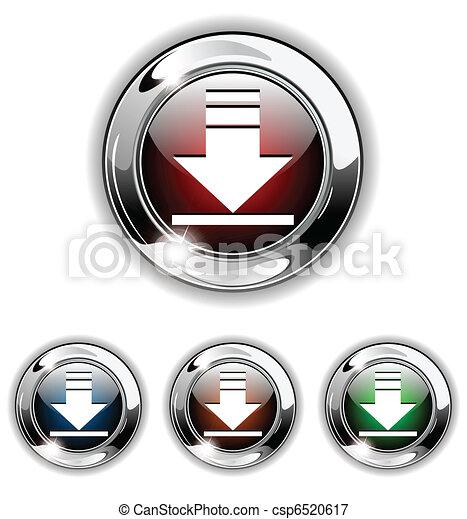 Download icon, button, vector illus - csp6520617