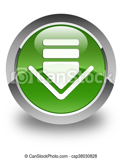 Download icon glossy soft green round button - csp38030828