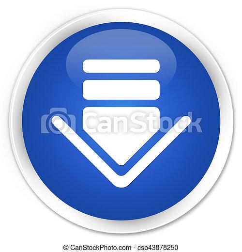 Download icon premium blue round button - csp43878250