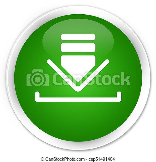 Download icon premium green round button - csp51491404