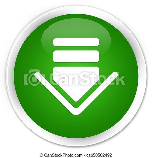 Download icon premium green round button - csp50502492