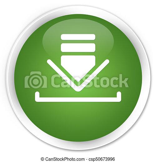 Download icon premium soft green round button - csp50673996