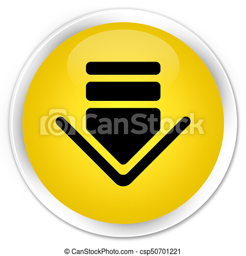 Download icon premium yellow round button - csp50701221