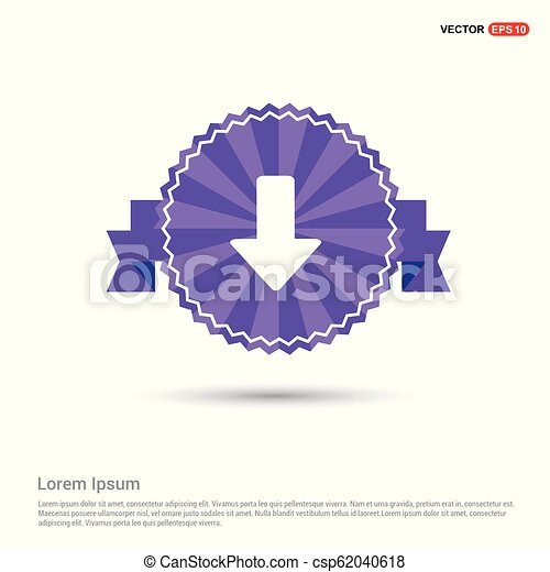 Download Icon - Purple Ribbon banner - csp62040618