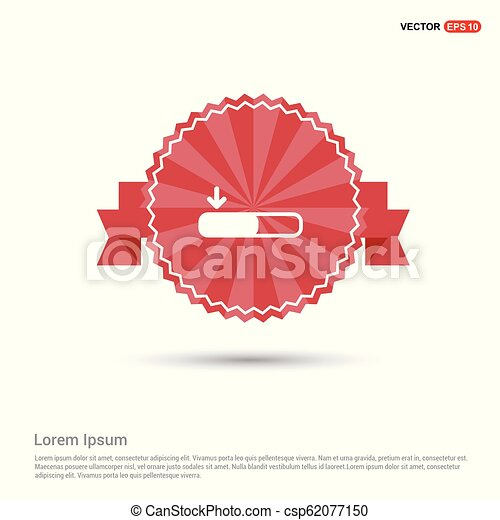 Download Icon - Red Ribbon banner - csp62077150
