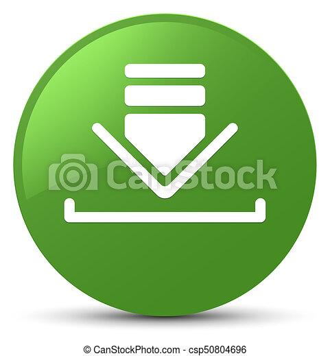 Download icon soft green round button - csp50804696