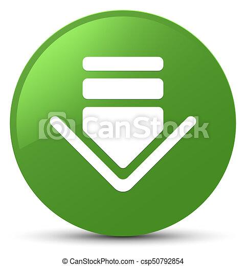 Download icon soft green round button - csp50792854
