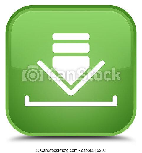 Download icon special soft green square button - csp50515207
