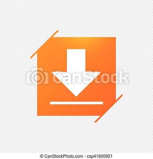 Download icon. Upload button. - csp41600921