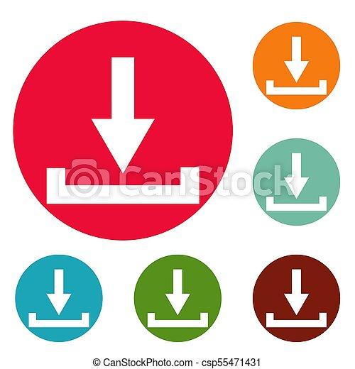 Download icons circle set - csp55471431