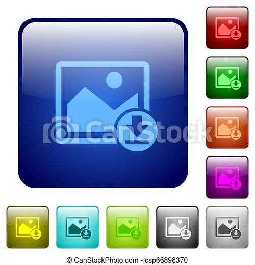 Download image color square buttons - csp66898370