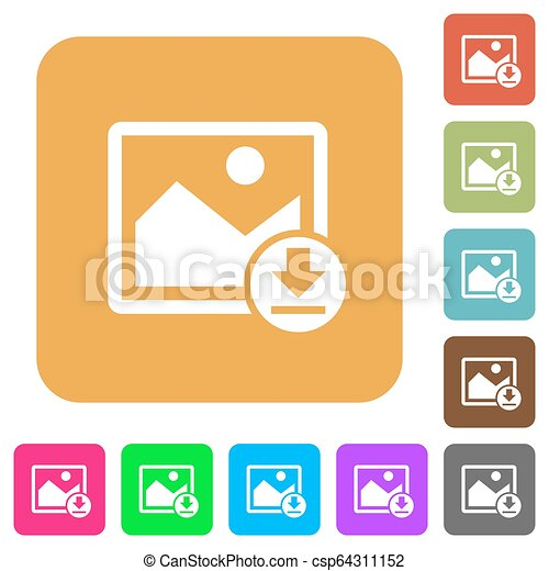 Download image rounded square flat icons - csp64311152