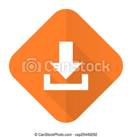 download orange flat icon - csp25449292