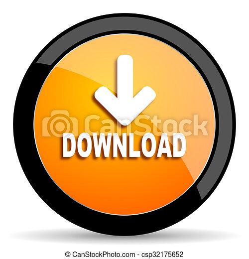 download orange icon - csp32175652