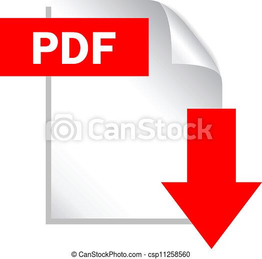 download, pdf, arquivo, ícone - csp11258560